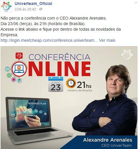 Alexandre Arenales, o Presidente da fraude Univerteam