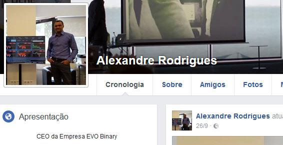 Alexandre Rodrigues, CEO da fraude EvoBinary