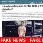 Anúncios Facebook com Fake News sobre Milionário a dar Dinheiro (Gratorama)