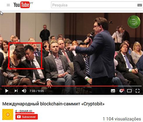 Charles Cheng no evento Cryptobit, criado pela EDRCoin.