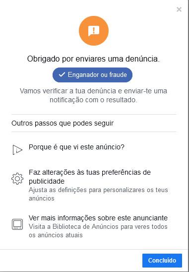 Como denúnciar anúncios facebook