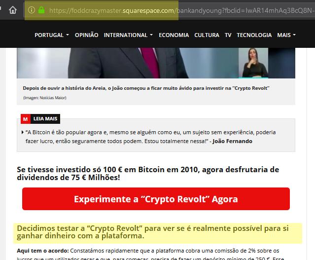 Crypto Revolt revela que grupo de burlões também está por detrás da fraude Gratorama