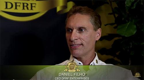 Daniel Filho, fundador da DFRF Enterprises. Foi acusado de falsas afirmações e testemunhos enganosos. Minas de ouro não existem é um ESQUEMA PONZI.