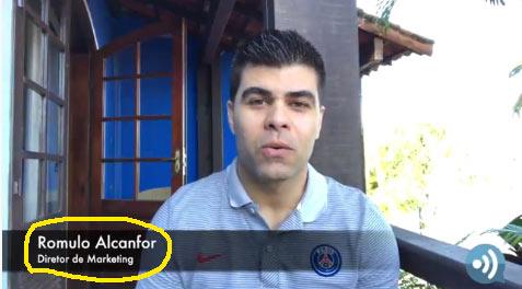 Romulo Alcanfor, Diretor de Marketing da fraude Adsply