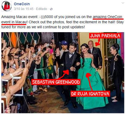 Cúmplices de Ruja Ignatova no golpe OneCoin (fonte: tenhodividas.com)