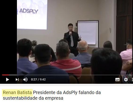 Vídeo com presidente Renan Batista da fraude Adsply