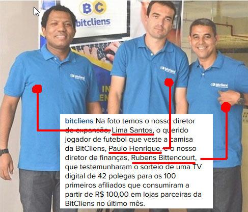 Donos da empresa E-CLIENS MARKETING DIRETO LTDA, a empresa que ajuda a fraude Fuel Age a receber fundos das vítimas.