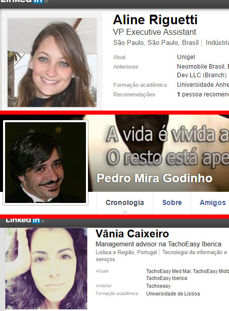 Perfil dos donos da empresa Absolut League Lda no Facebook e LinkedIn