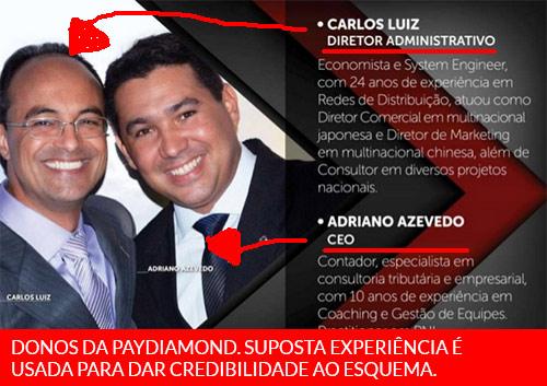Supostos donos da fraude PayDiamond