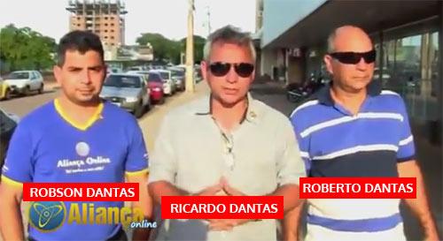 """Os principais """"caras"""" na fraude Aliança Online. Robson Dantas, Ricardo Dantas e Roberto Dantas."""