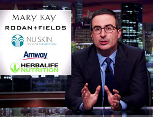 Marketing Multinivel Esquema em Pirâmide no Last Week Night de John Oliver