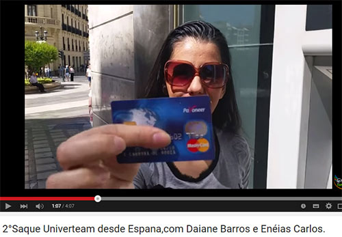 Estratégia de qualquer fraude multinível é usar vídeos ou fotos do cartão pré-pago, para tentar aliciar novas vítimas a pensar que, se ele consegue eu também consigo.