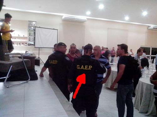 Polícia GAEP visitou evento da mega fraude iFreex
