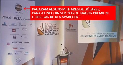 OneCoin gastou milhares de dólares para ser o patrocinador principal e conseguir colocar Ruja Ignatova a falar no evento. Em nenhum momento informam que patrocinaram o evento.