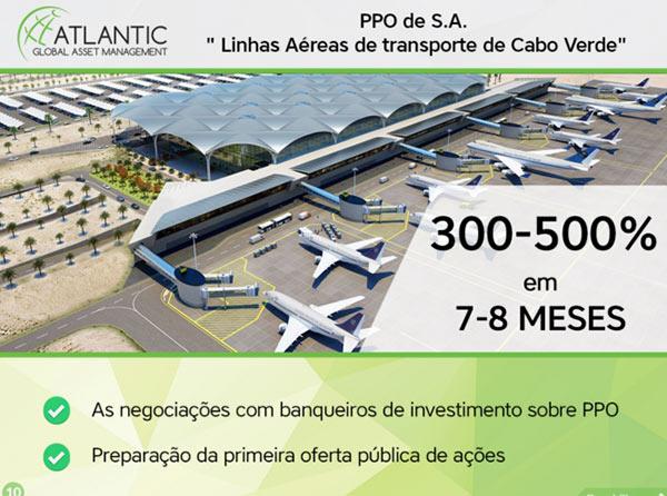 Falso investimento na TACV da Atlantic Global Asset Management. Promessa de 300-500% é completamente irreal.
