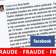 Fraude empréstimos no Facebook