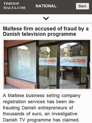 Panlegis, empresa conhecida por criar empresas em paraísos fiscais para mais tarde vender foi acusada de fraude