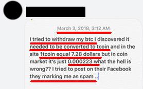 Trade Coin Club manipula valor usado para converter bitcoin em créditos virtuais Tcoin TCN (foto:tenhodividas.com)