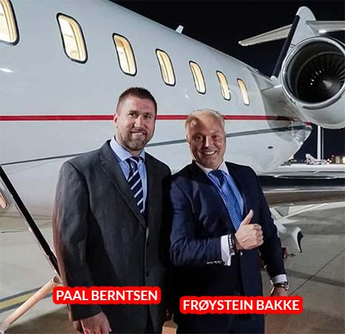 Paal Berntsen (COO) e Frøystein Bakke ou Freddy Bakke (CEO e Co-Fundador)