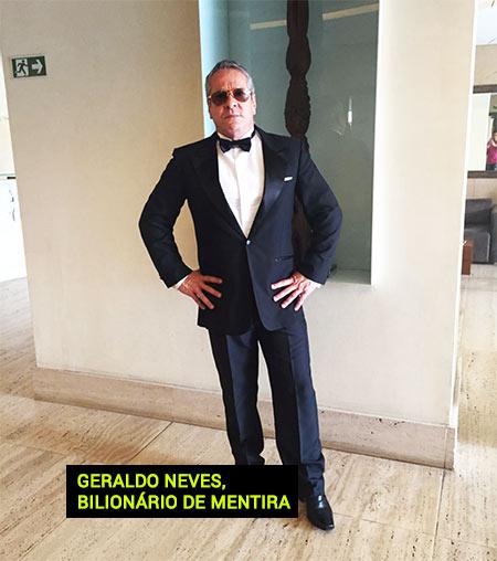 Geraldo Goulart Neves, o bilionário de mentira e o falso dono. (fonte: facebook.com)