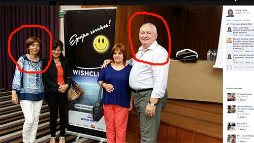 Graça Luísa e João Marcucci numa das muitas reuniões Wishclub na Madeira