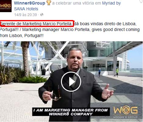 Marcio Portla, o Diretor de Marketing da Winner8Group
