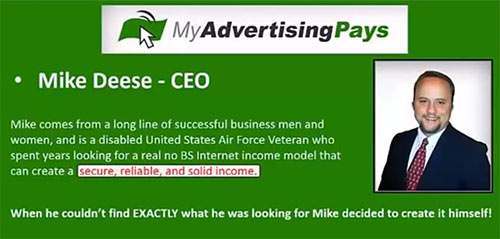 Dono do esquema Ponzi MyAdvertisingPays Mike Deese