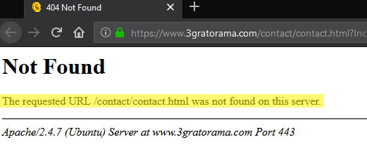 Página de contactos da fraude Gratorama