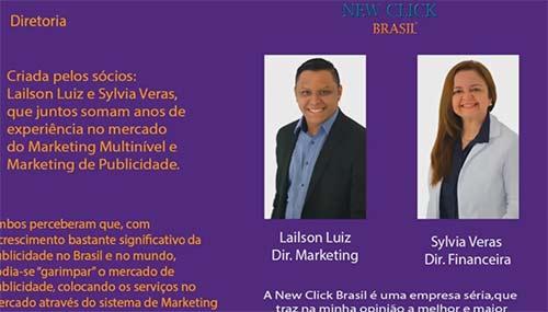 Lailson Luiz e Sylvia Veras, piramideiros deram golpe com a New Click Brasil