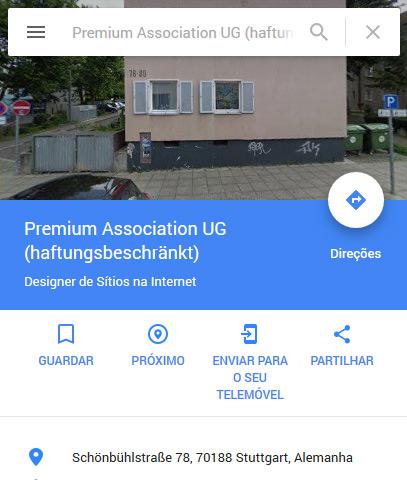 Premium Association UG da burla dos 120€ é uma morada residencial