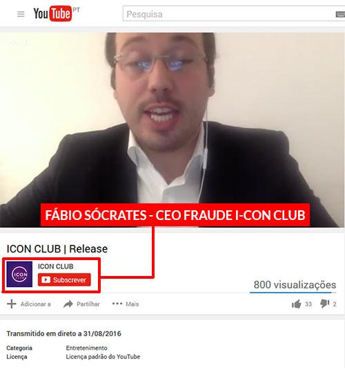 Fábio Sócrates, Presidente da fraude I-CON Club