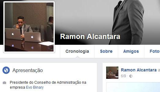 Ramon Alcantara, CEO da fraude EvoBinary