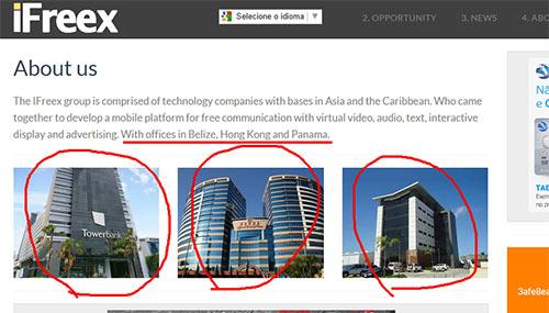 Escritórios da iFreex são escritórios virtuais ou uma caixa postal.