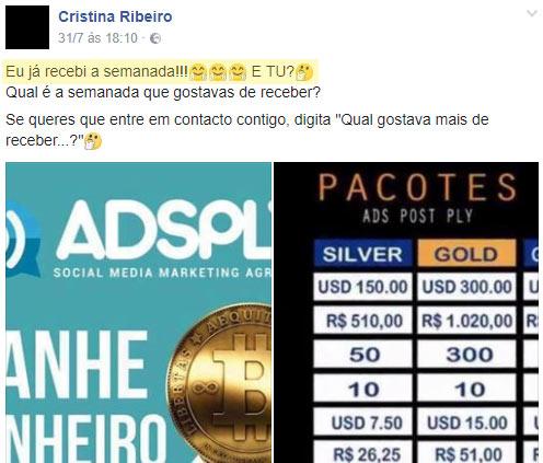 Burlões a promover a fraude Adsply em Portugal