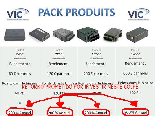 Integrantes da fraude VIC na França prometem um retorno de 200% sem fazer nada!!