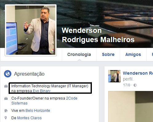 Wenderson Rodrigues Malheiros da Evo Binary